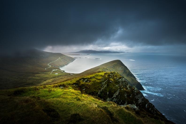 achill island stormy sky