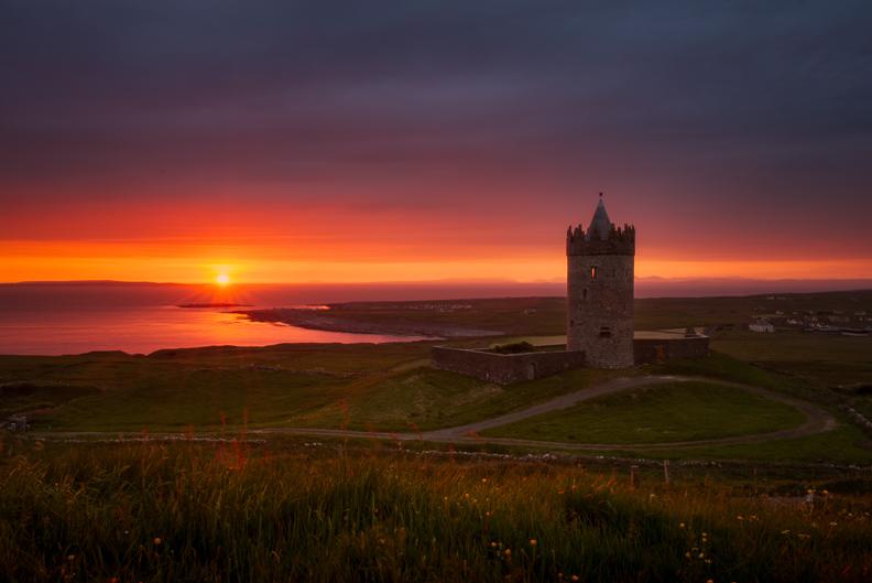 amazing Doolin castle sunset