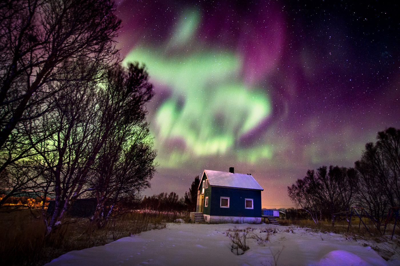 beautiful northern light norway