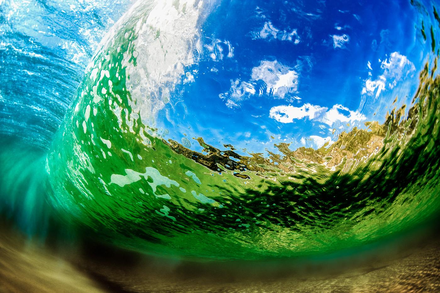 underwater waves ireland green