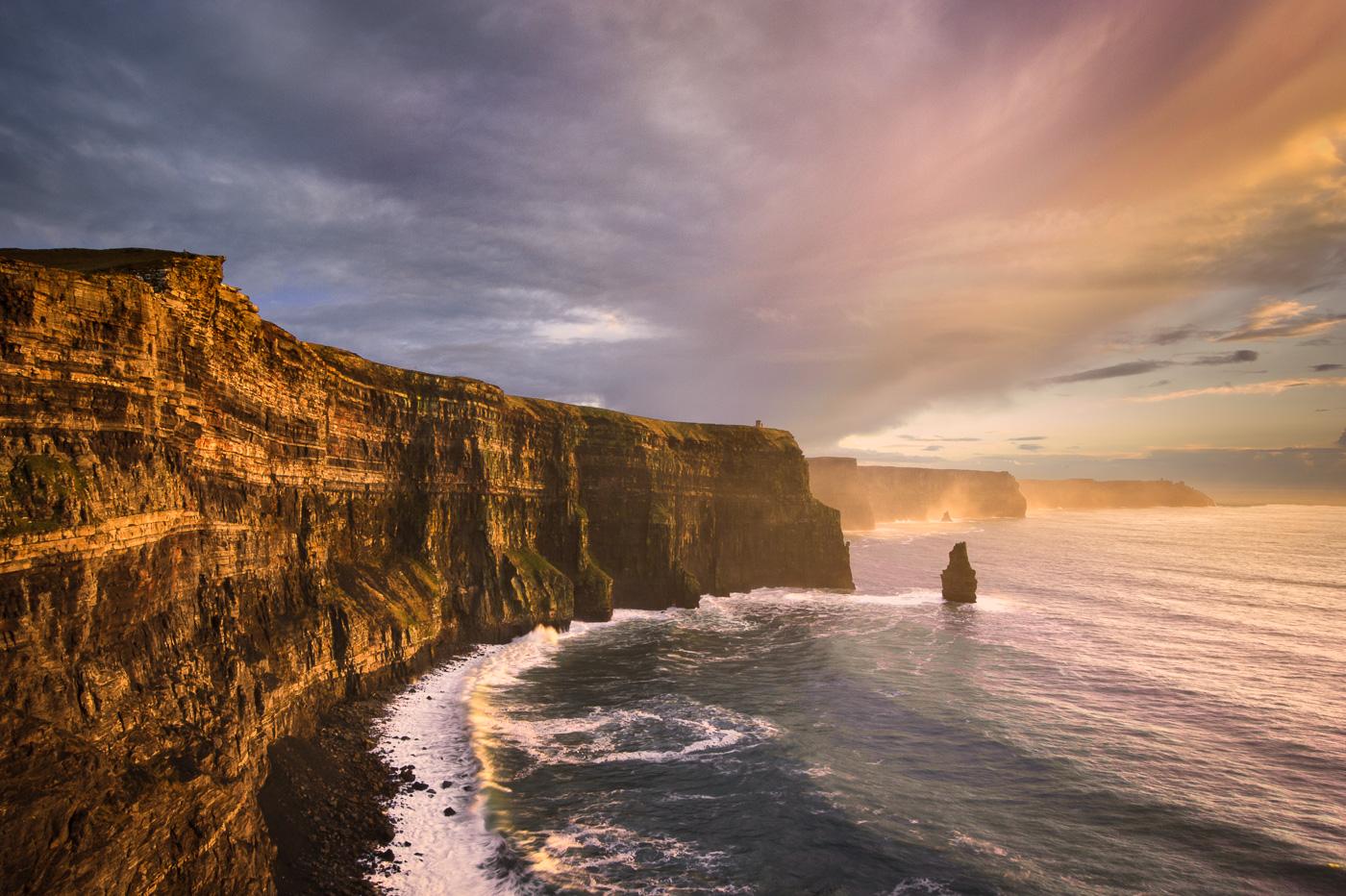 beautiful photo cliffs of moher ireland