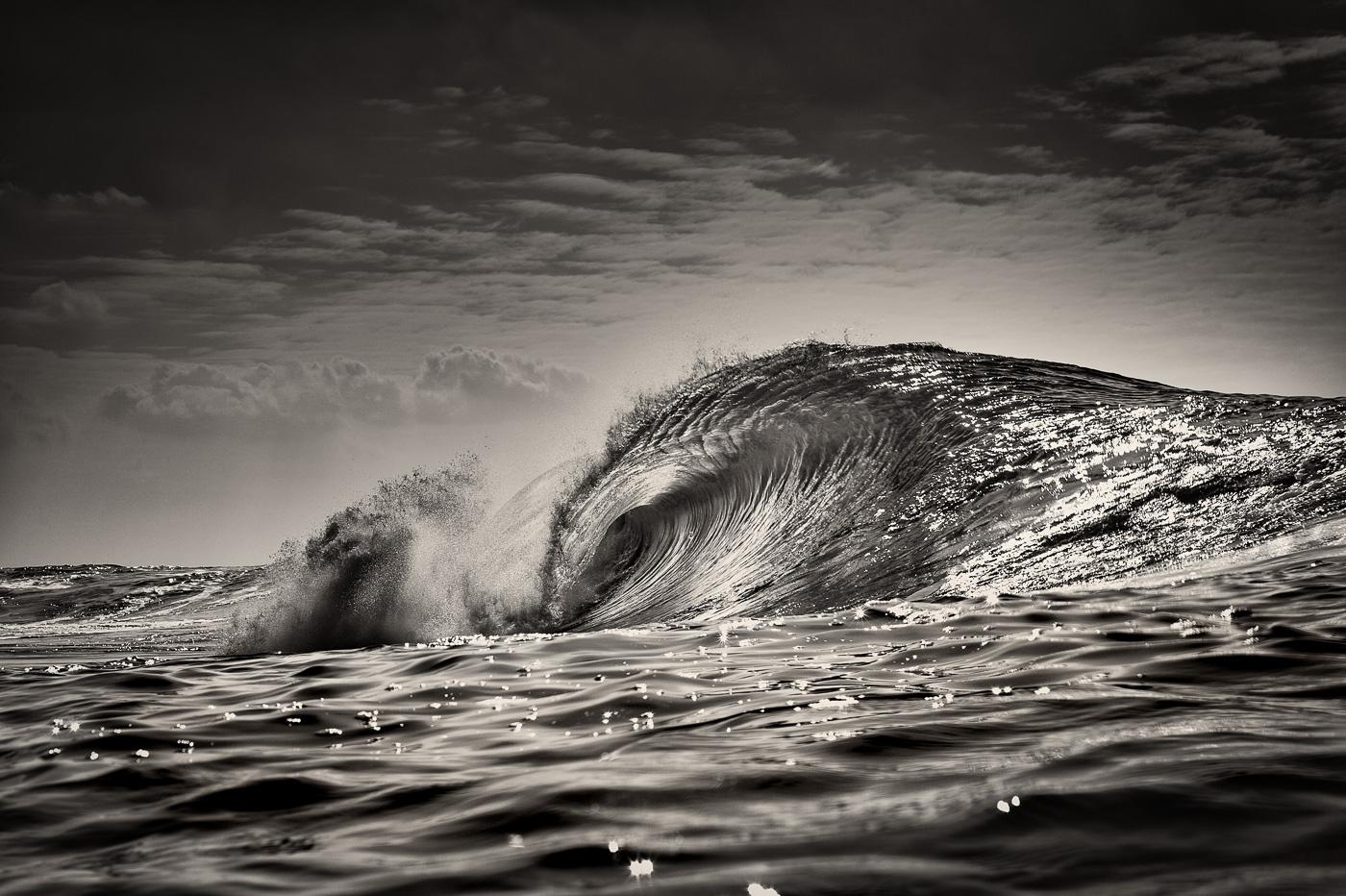 amazing wave ireland black and white