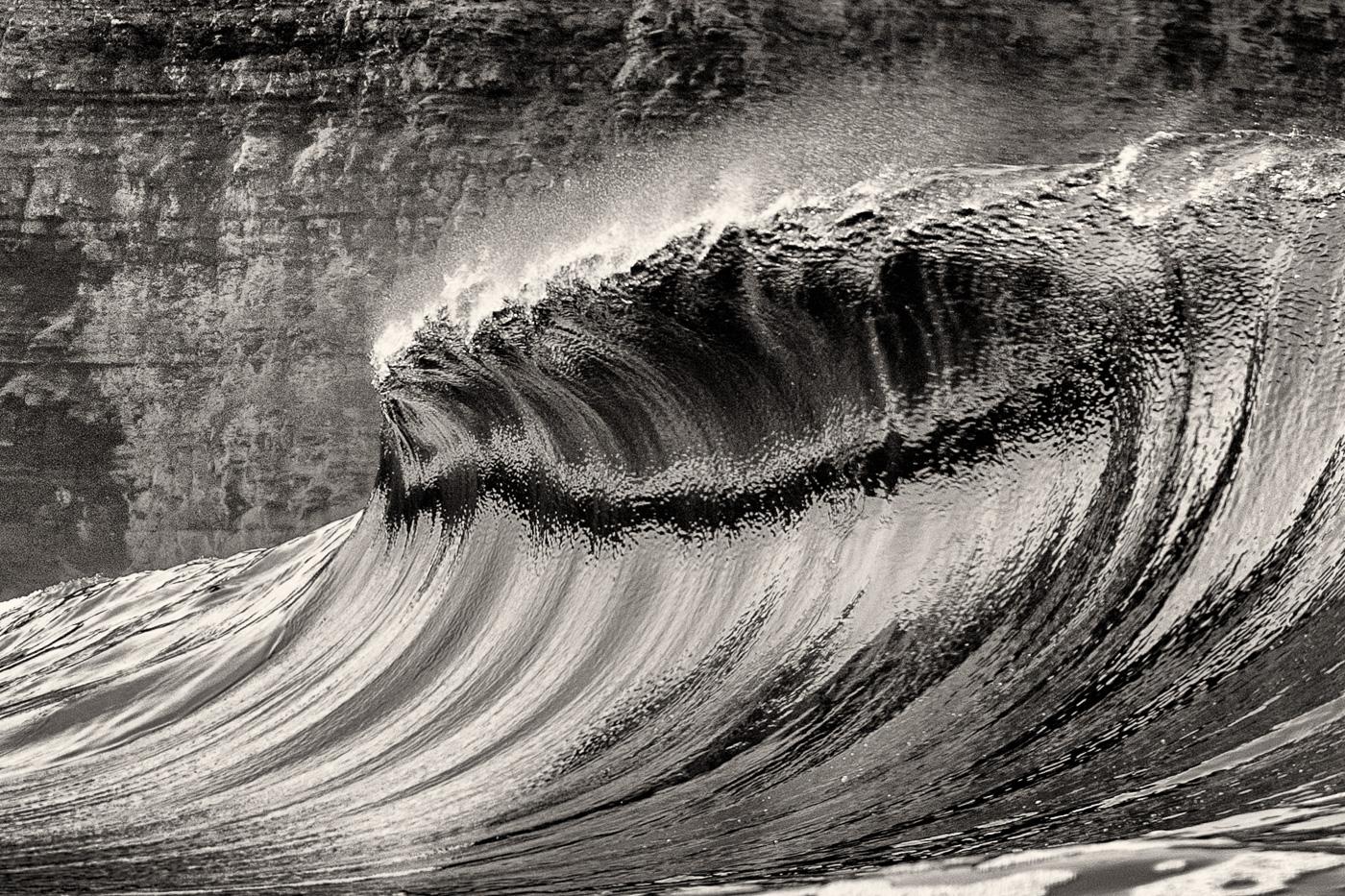 big wave ireland black and white