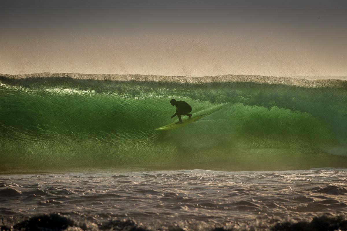 irish surfing crab island sunset waves