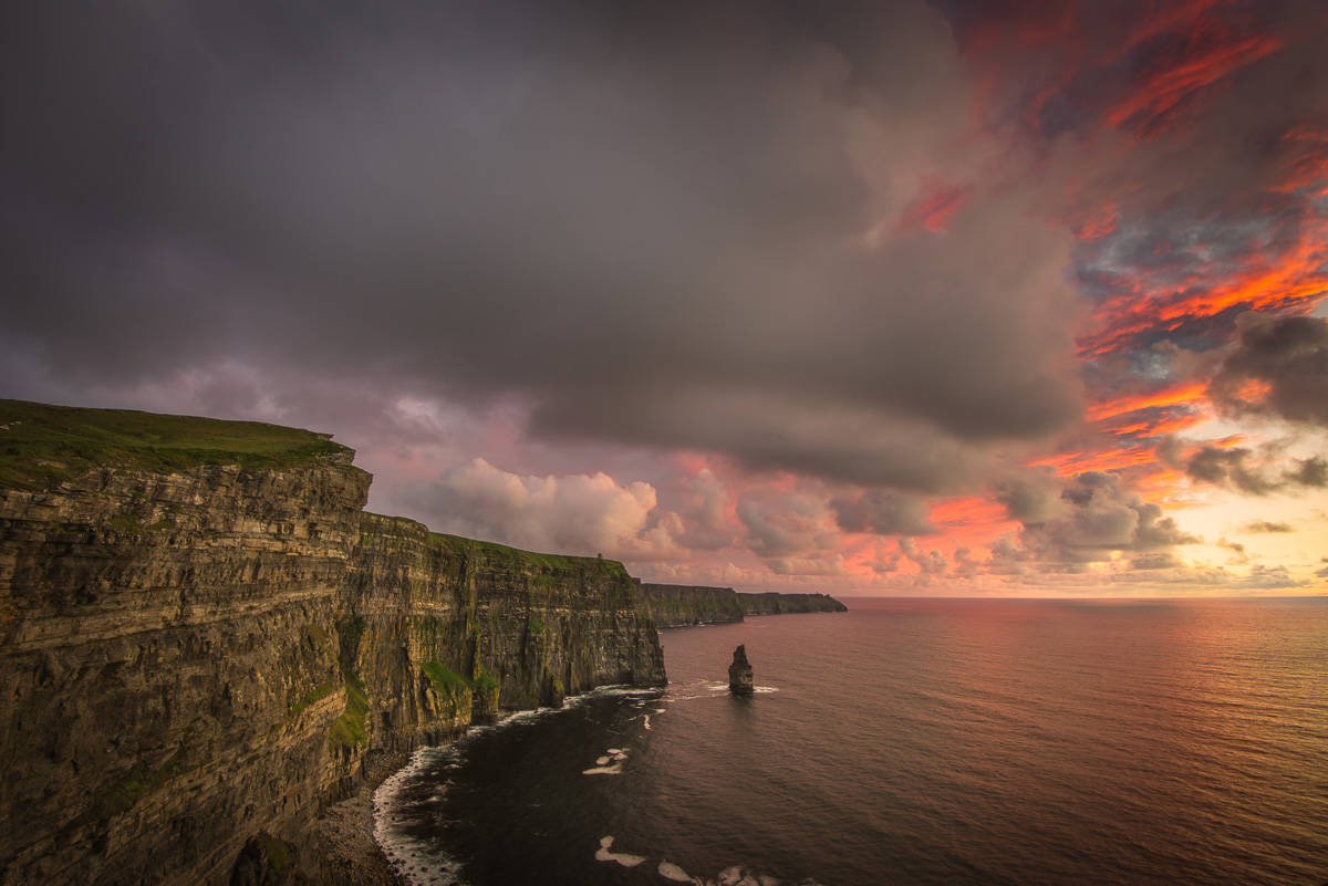 cliffs of moher amazing sunset dramatic sky print