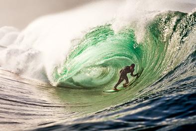 fergal smith surfer riding barrel green riley's Ireland