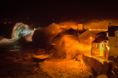 hurricane hercules storm wave lahinch promenade