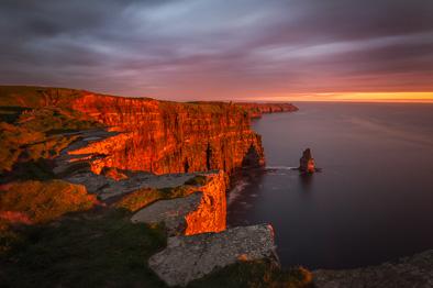 sunset Cliffs of Moher photos