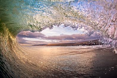 inside wave Fanore Burren photo