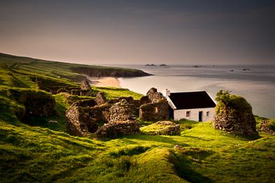 traditional Irish Ireland photo Great Blasket village