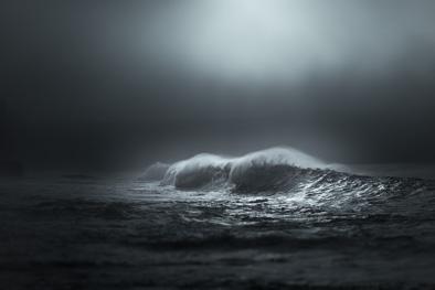 misty wave art photo