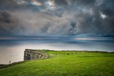 meadow green field atlantic ocean