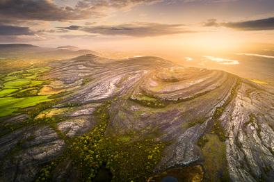 Mullaghmore mountain burren aerial photo ireland