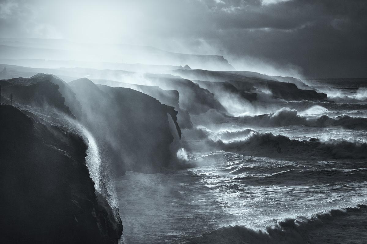 Doolin cliffs storm art print