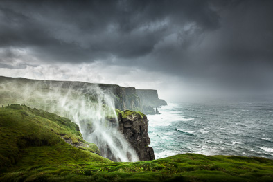 cliffs of moher water fall