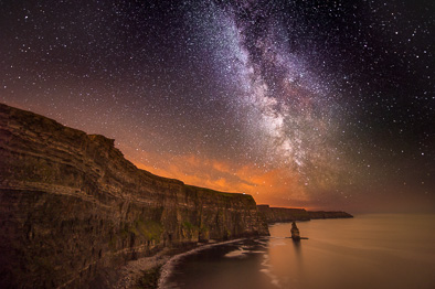 Cliffs of Moher milky way night sky
